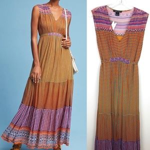 Anthropologie Tanvi Kedia Aelyn Embroidered Maxi